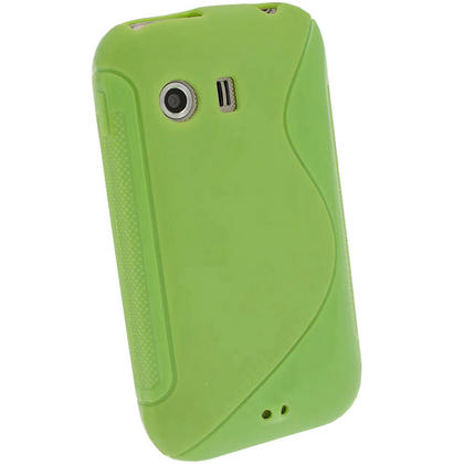 iGadgitz Dual Tone Green Gel Case for Samsung Galaxy Y S5360 + Screen Protector Thumbnail 3