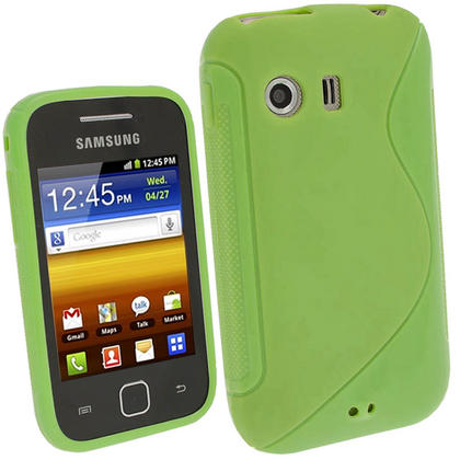 iGadgitz Dual Tone Green Gel Case for Samsung Galaxy Y S5360 + Screen Protector Thumbnail 1