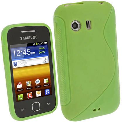 iGadgitz Dual Tone Green Gel Case for Samsung Galaxy Y S5360 + Screen Protector Thumbnail 1