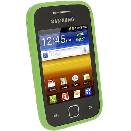 iGadgitz Dual Tone Green Gel Case for Samsung Galaxy Y S5360 + Screen Protector Thumbnail 2