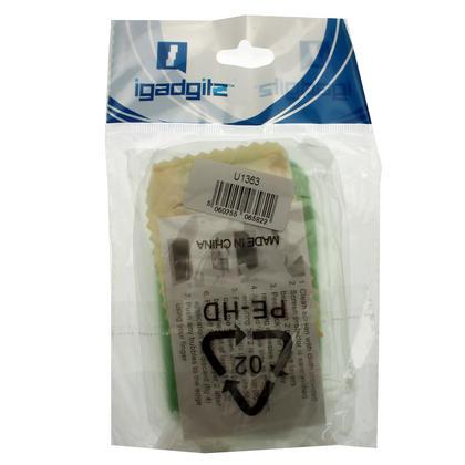 iGadgitz Dual Tone Green Gel Case for Samsung Galaxy Y S5360 + Screen Protector Thumbnail 4