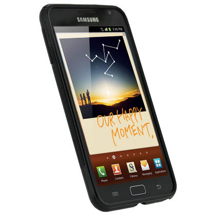 iGadgitz Dual Tone Black Gel Case for Samsung Galaxy Note N7000 + Screen Protector Thumbnail 2