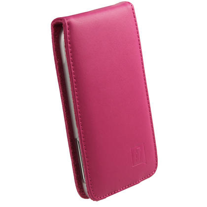 iGadgitz Pink Leather Case Cover Holder for HTC Sensation XL Android Smartphone Mobile Phone + Screen Protector Thumbnail 2