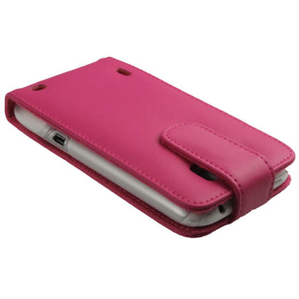 iGadgitz Pink Leather Case Cover Holder for HTC Sensation XL Android Smartphone Mobile Phone + Screen Protector Thumbnail 5