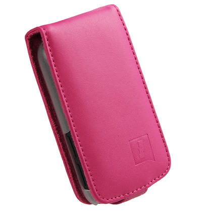 iGadgitz Pink Leather Case Cover Holder for HTC Explorer A310e Android Smartphone Mobile Phone + Screen Protector Thumbnail 2