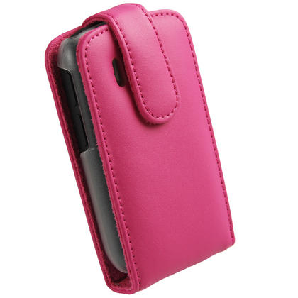 iGadgitz Pink Leather Case Cover Holder for HTC Explorer A310e Android Smartphone Mobile Phone + Screen Protector Thumbnail 3