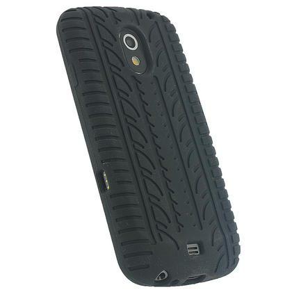 iGadgitz Black Silicone Skin Case Cover with Tyre Tread Design for Samsung Galaxy Nexus i9250 + Screen Protector Thumbnail 3