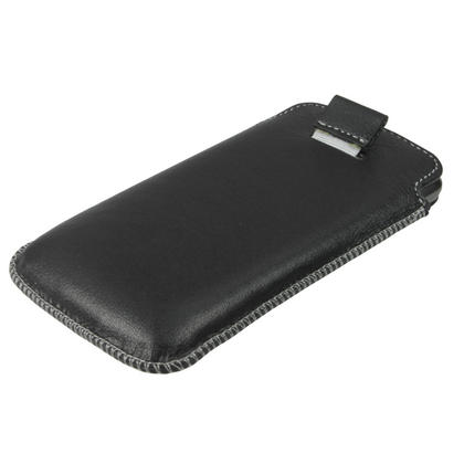 iGadgitz Black Genuine Leather Pouch Case Cover for LG Google Nexus 4 E960 Android Smartphone Mobile Phone Thumbnail 4