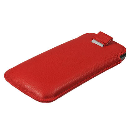 iGadgitz Red Leather Pouch Case Cover for Samsung Galaxy Nexus i9250 & LG Google Nexus 4 E960 Android Smartphone Thumbnail 4