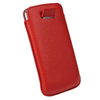 iGadgitz Red Leather Pouch Case Cover for Samsung Galaxy Nexus i9250 & LG Google Nexus 4 E960 Android Smartphone Thumbnail 5