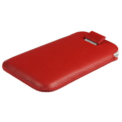 iGadgitz Red Leather Pouch Case Cover for HTC Sensation XL Android Smartphone Mobile Phone Thumbnail 3