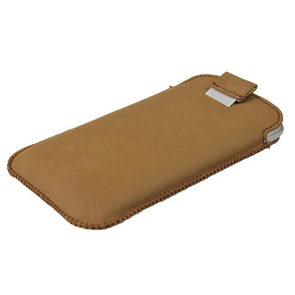 iGadgitz Brown Genuine Leather Pouch Case Cover for HTC Sensation XL Android Smartphone Mobile Phone Thumbnail 3