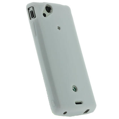 iGadgitz White Glossy Gel Case for Sony Ericsson Xperia Arc S + Screen Protector Thumbnail 3
