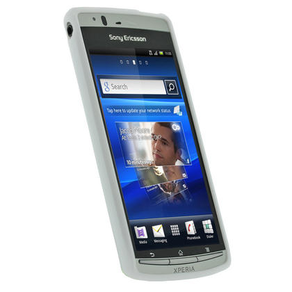 iGadgitz White Glossy Gel Case for Sony Ericsson Xperia Arc S + Screen Protector Thumbnail 2