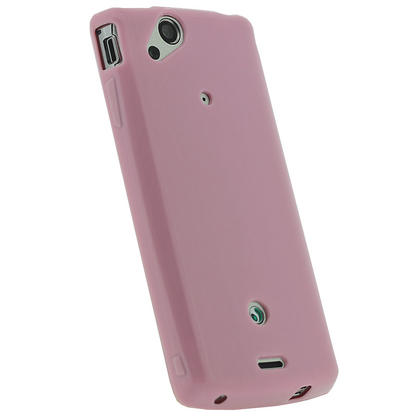 iGadgitz Pink Glossy Gel Case for Sony Ericsson Xperia Arc S + Screen Protector Thumbnail 3