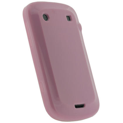 iGadgitz Pink Glossy Gel Case for BlackBerry Bold Touch 9900 9930 + Screen Protector Thumbnail 3