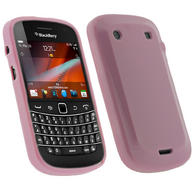iGadgitz Pink Glossy Gel Case for BlackBerry Bold Touch 9900 9930 + Screen Protector