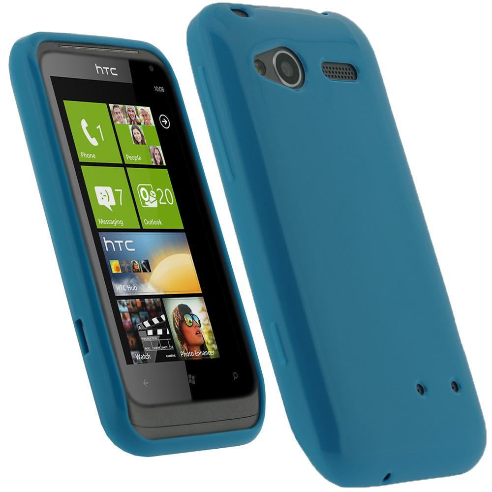 iGadgitz Blue Glossy Gel Case for HTC Radar C100e + Screen Protector