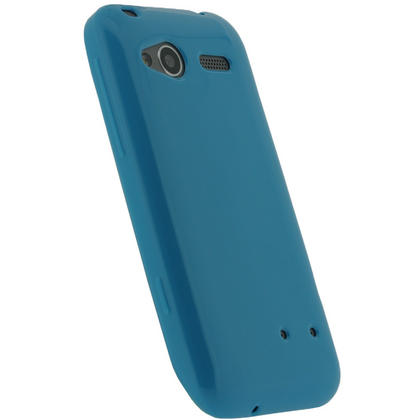 iGadgitz Blue Glossy Gel Case for HTC Radar C100e + Screen Protector Thumbnail 3