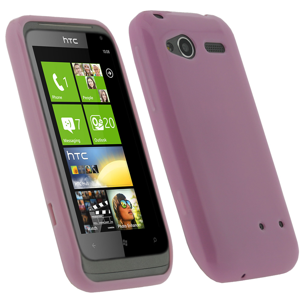 iGadgitz Pink Glossy Gel Case for HTC Radar C100e + Screen Protector