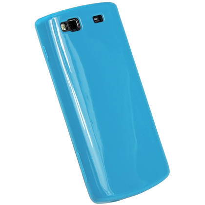 iGadgitz Blue Glossy Gel Case for Samsung Wave 3 Bada 2.0 S8600 + Screen Protector Thumbnail 3