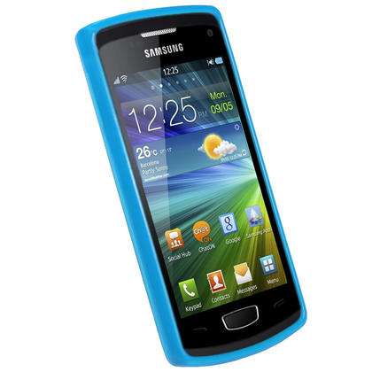 iGadgitz Blue Glossy Gel Case for Samsung Wave 3 Bada 2.0 S8600 + Screen Protector Thumbnail 2