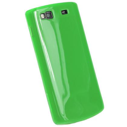 iGadgitz Green Glossy Gel Case for Samsung Wave 3 Bada 2.0 S8600 + Screen Protector Thumbnail 3