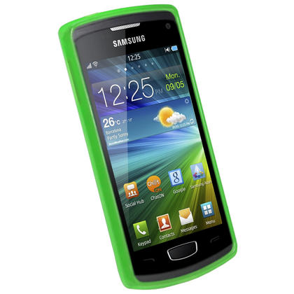iGadgitz Green Glossy Gel Case for Samsung Wave 3 Bada 2.0 S8600 + Screen Protector Thumbnail 2