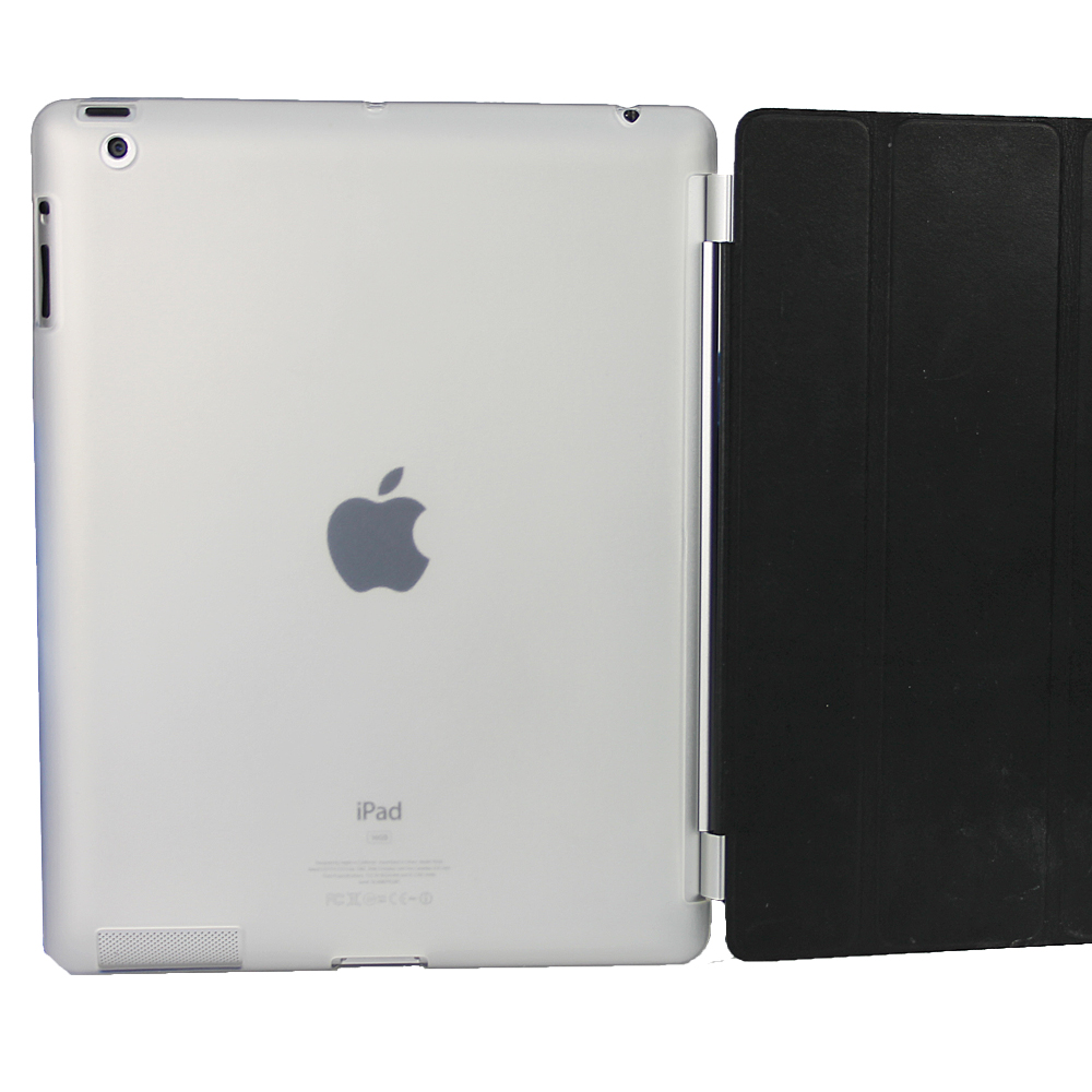 iGadgitz Clear Tough Gel TPU Back Cover for Apple iPad 3 & 4 + Screen Prot. For use with Apple Smart Cover