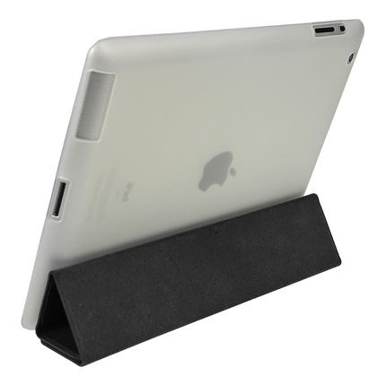 iGadgitz Clear Tough Gel TPU Back Cover for Apple iPad 3 & 4 + Screen Prot. For use with Apple Smart Cover Thumbnail 2