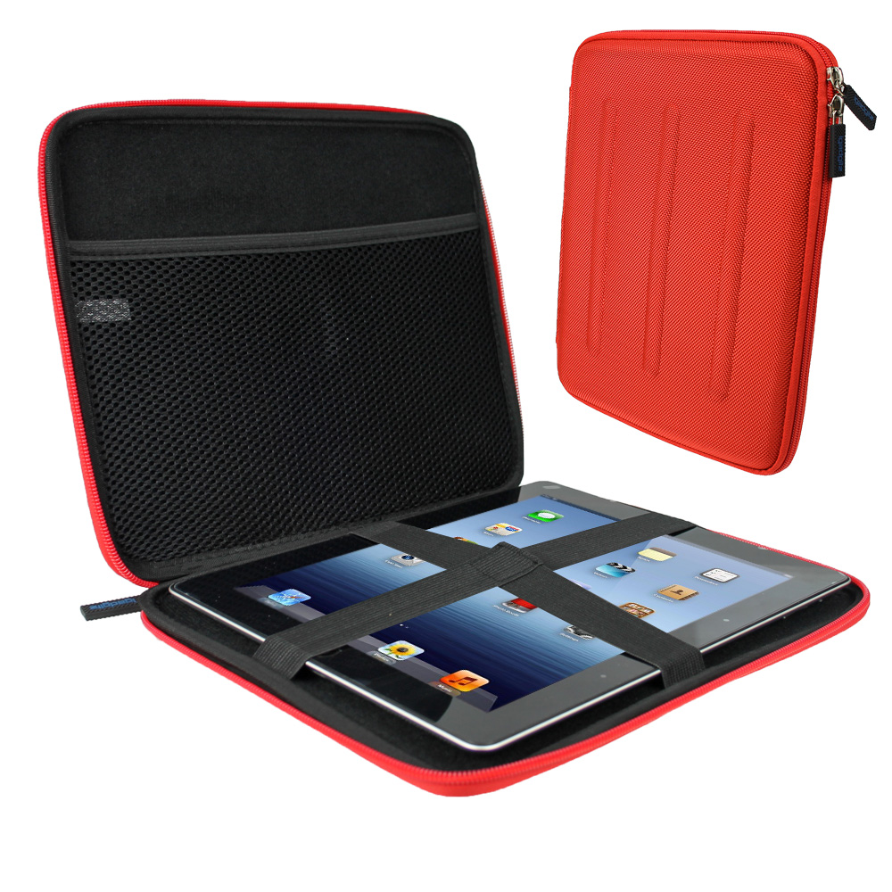 iGadgitz Red EVA Hard Case for Samsung Galaxy Tab PRO 10.1 SM-T520 / SM-T525