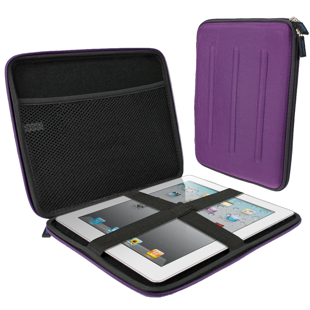 "iGadgitz Purple Travel Hard Case for Apple iPad 2, 3, 4 with Retina Display, Air (launched Oct 2013) & Pro 9.7"" 2016"