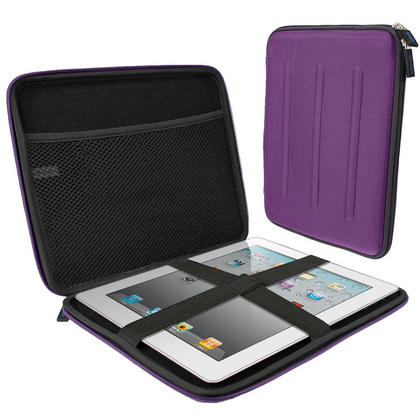 "iGadgitz Purple Travel Hard Case for Apple iPad 2, 3, 4 with Retina Display, Air (launched Oct 2013) & Pro 9.7"" 2016 Thumbnail 1"