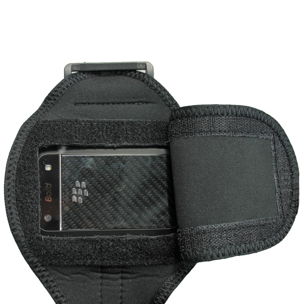 Igadgitz Black Water Resistant Neoprene Sports Armband For Blackberry Bold  Touch 9900 9930 Thumbnail 5