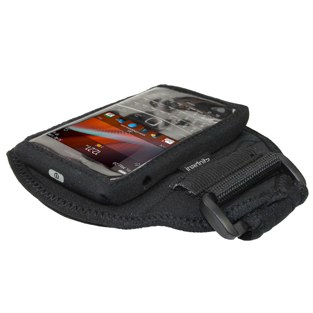 Igadgitz Black Water Resistant Neoprene Sports Armband For Blackberry Bold  Touch 9900 9930 Thumbnail 3