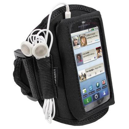 iGadgitz Black Water Resistant Neoprene Sports Armband for Motorola Defy MB525 & Defy+ (Plus) Thumbnail 1
