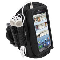 iGadgitz Black Water Resistant Neoprene Sports Armband for Motorola Defy MB525 & Defy+ (Plus)