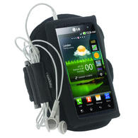 iGadgitz Black Water Resistant Neoprene Sports Armband for LG Optimus 3D P920