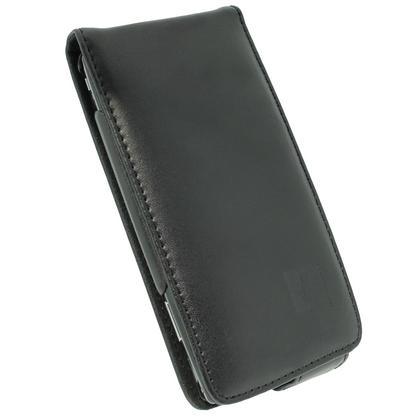 iGadgitz Black Leather Case Cover Holder for Sony Ericsson Xperia Arc S + Screen Protector Thumbnail 2