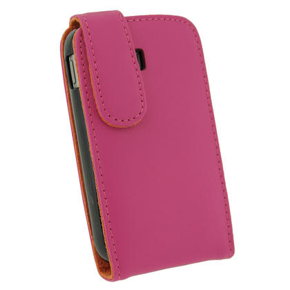 iGadgitz Pink Leather Case Cover Holder for Samsung Galaxy Y S5360 Android Smartphone Mobile Phone + Screen Protector Thumbnail 3