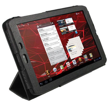 "iGadgitz Black PU Leather Case Cover for Motorola Xoom 2 Media Edition Droid Xyboard 8.2"" Tablet 16GB + Screen Protector Thumbnail 2"