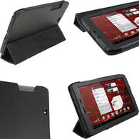 "iGadgitz Black PU Leather Case Cover for Motorola Xoom 2 Media Edition Droid Xyboard 8.2"" Tablet 16GB + Screen Protector"