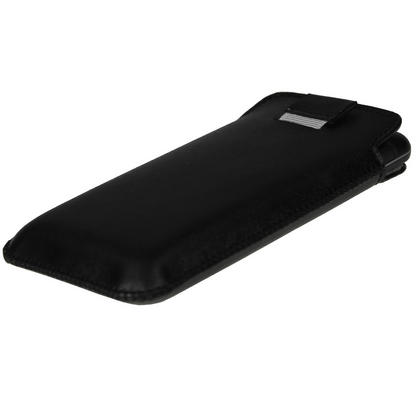 iGadgitz Black Leather Pouch Case Cover for LG Optimus 3D P920 Android Smartphone Mobile Phone Thumbnail 3
