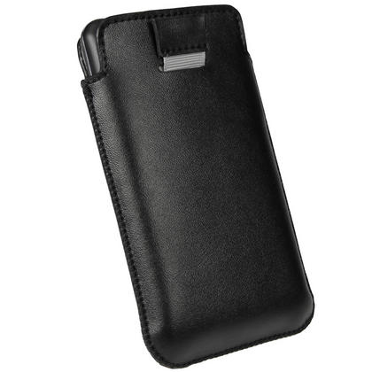 iGadgitz Black Leather Pouch Case Cover for LG Optimus 3D P920 Android Smartphone Mobile Phone Thumbnail 4