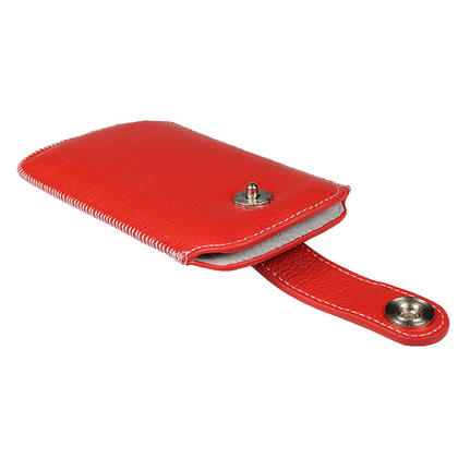 iGadgitz Red Luxury Genuine Leather Pouch Case Cover with Magnetic Closure for Samsung Galaxy Nexus i9250 Thumbnail 4