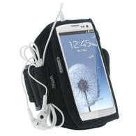 iGadgitz Black Neoprene Sports Gym Jogging Armband for Samsung Galaxy S3 III i9300 Android Smartphone Mobile Phone
