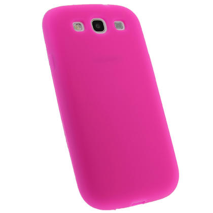 iGadgitz HOT Pink Silicone Skin Case Cover for Samsung Galaxy S3 III i9300 + Screen Protector Thumbnail 3