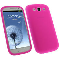 iGadgitz HOT Pink Silicone Skin Case Cover for Samsung Galaxy S3 III i9300 + Screen Protector
