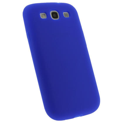 iGadgitz Blue Silicone Skin Case Cover for Samsung Galaxy S3 III i9300 + Screen Protector Thumbnail 2