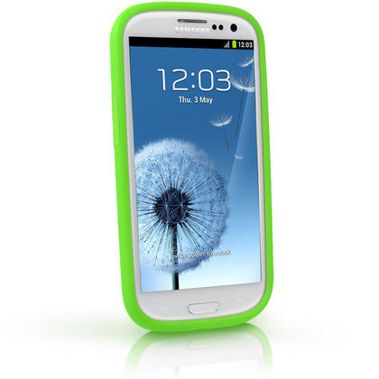 iGadgitz Green Silicone Skin Case Cover for Samsung Galaxy S3 III i9300 + Screen Protector Thumbnail 2